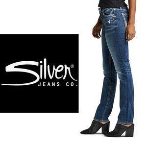 Silver Toni Tall Girl Straight Leg Jeans - 36Wx37L
